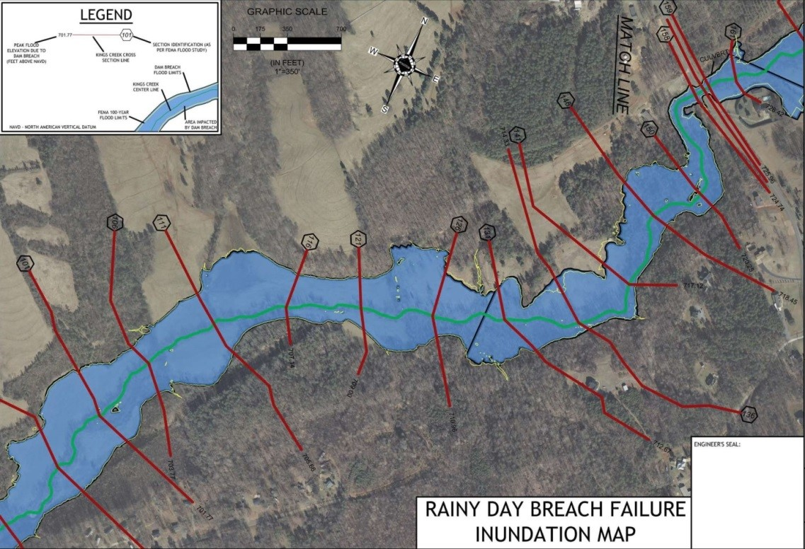 Downstream Inundation Map for High Hazard Dam
